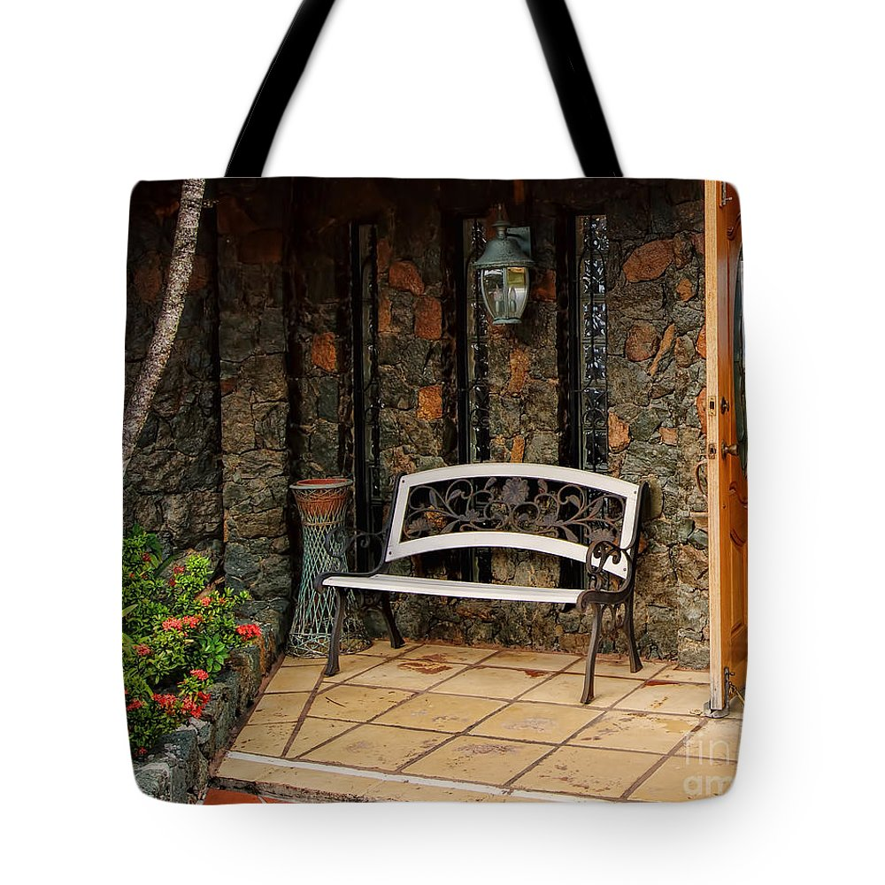 The Historic St. Peter Great House Tote Bag featuring the photograph Estate St. Peter Greathouse And Botanical Gardens by Olga Hamilton