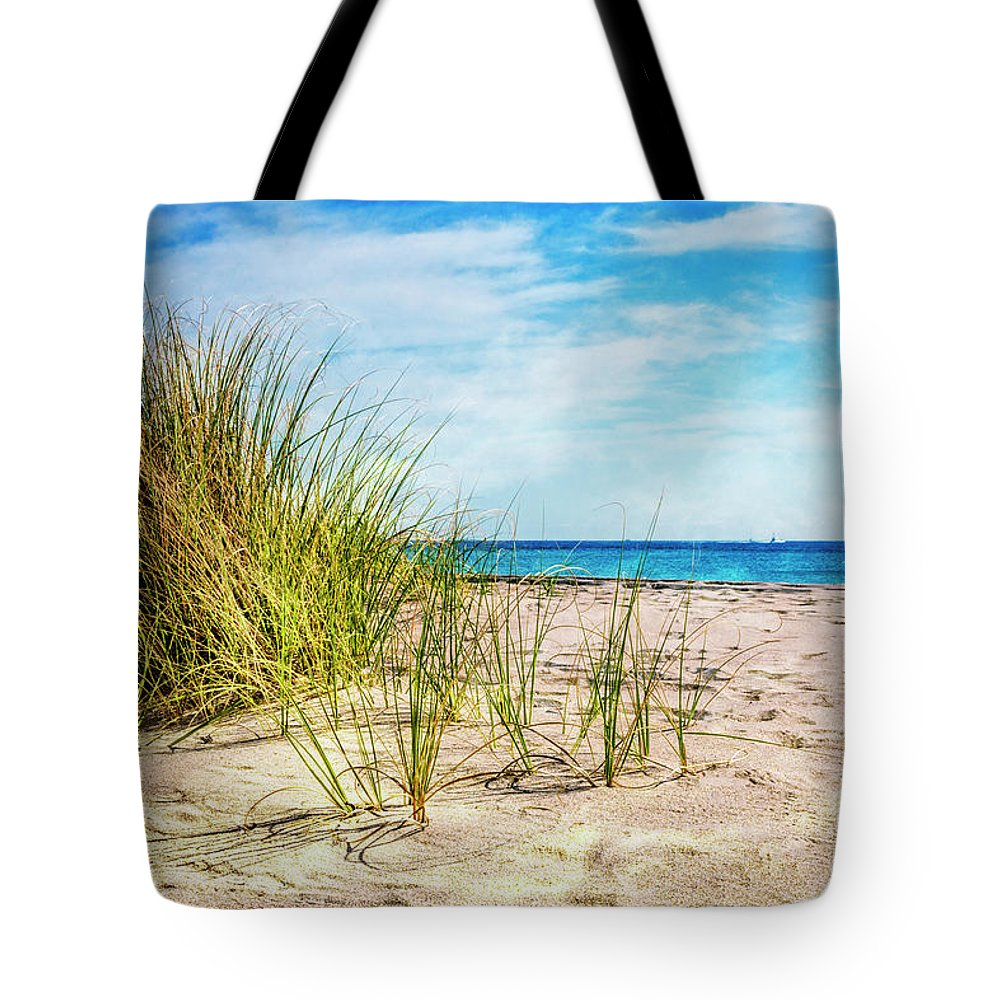 Boats Tote Bag featuring the photograph Etchings In The Sand by Debra and Dave Vanderlaan