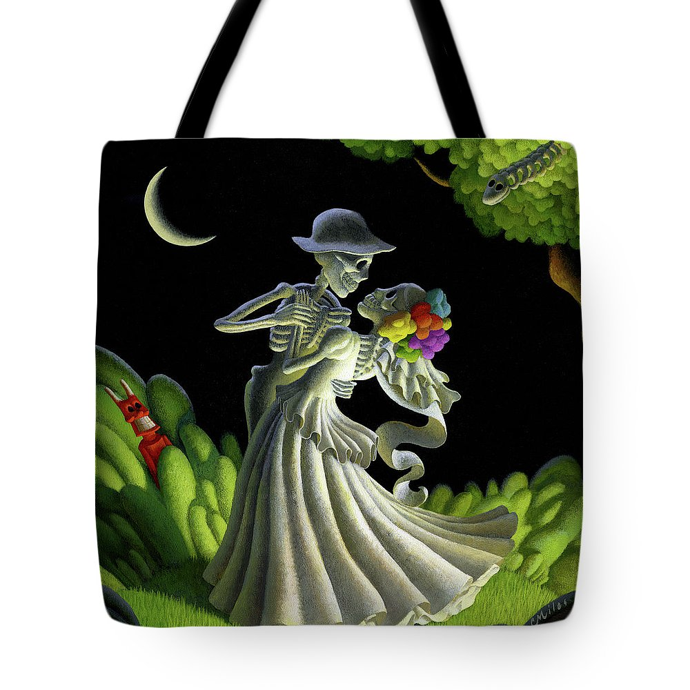 Wedding Tote Bag featuring the painting Eternal Love by Chris Miles