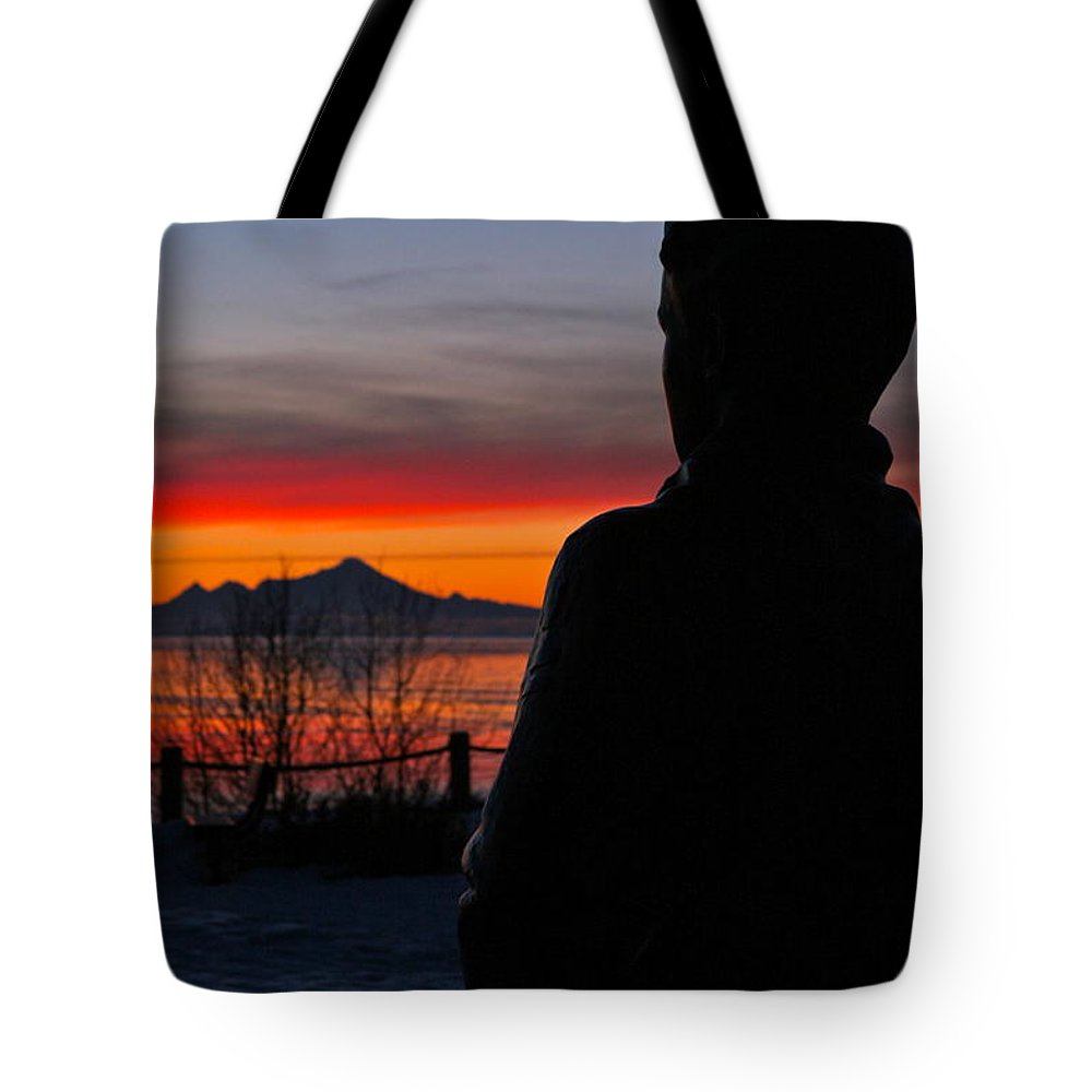 Silhouette Tote Bag featuring the photograph Eternal Sunset by Rick Monyahan