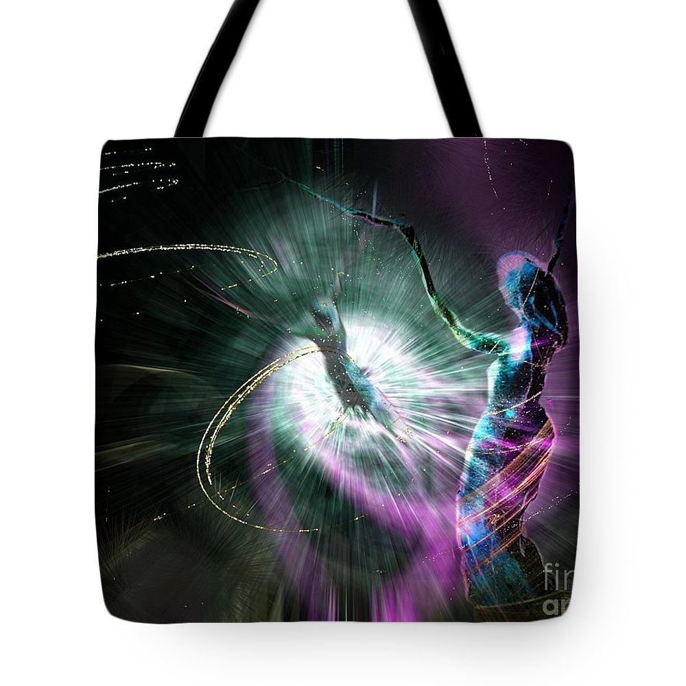 Nature Painting Tote Bag featuring the painting Eternel Feminin 02 by Miki De Goodaboom