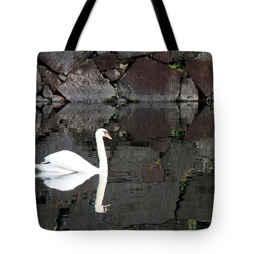Swan Tote Bag featuring the photograph Eternity by Mitch Cat