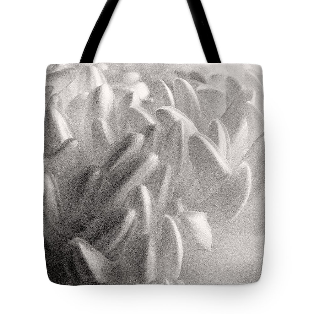 Nature Tote Bag featuring the photograph Ethereal Chrysanthemum by Zayne Diamond Photographic