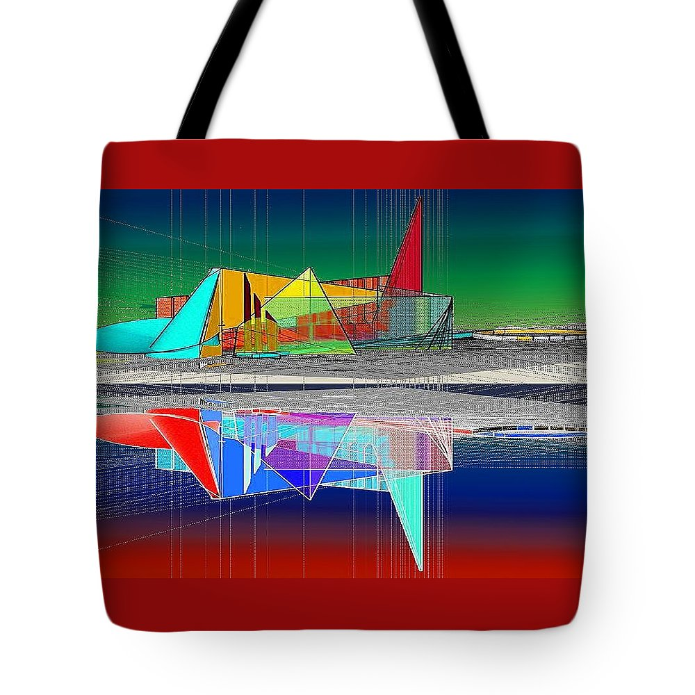 Cathedral Tote Bag featuring the digital art Ethereal Reflections by Don Quackenbush