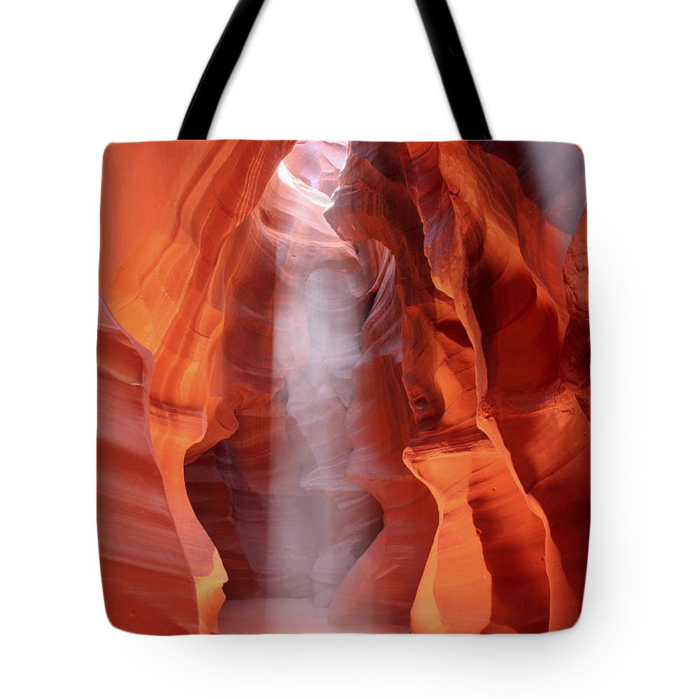 Antelope Canyon Tote Bag featuring the photograph Ethereal by Winston Rockwell