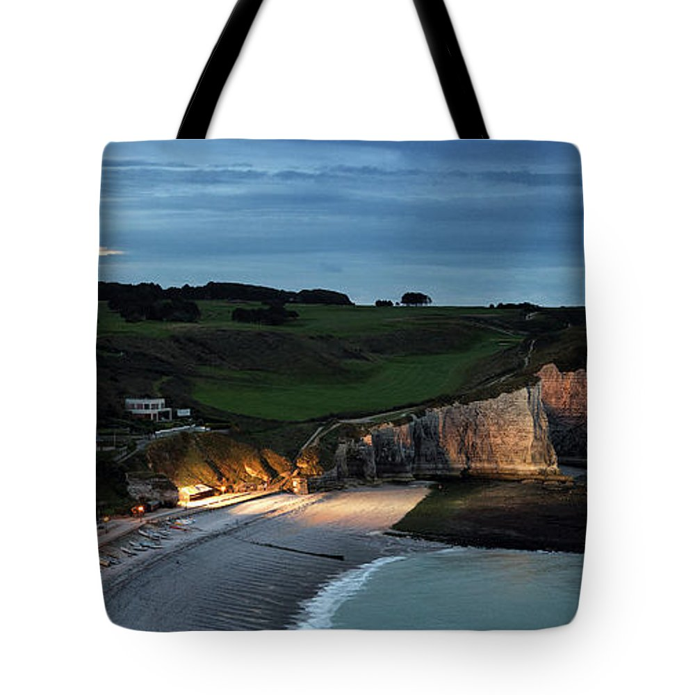 Etretat Tote Bag featuring the photograph Etretat in the Evening by Nailia Schwarz