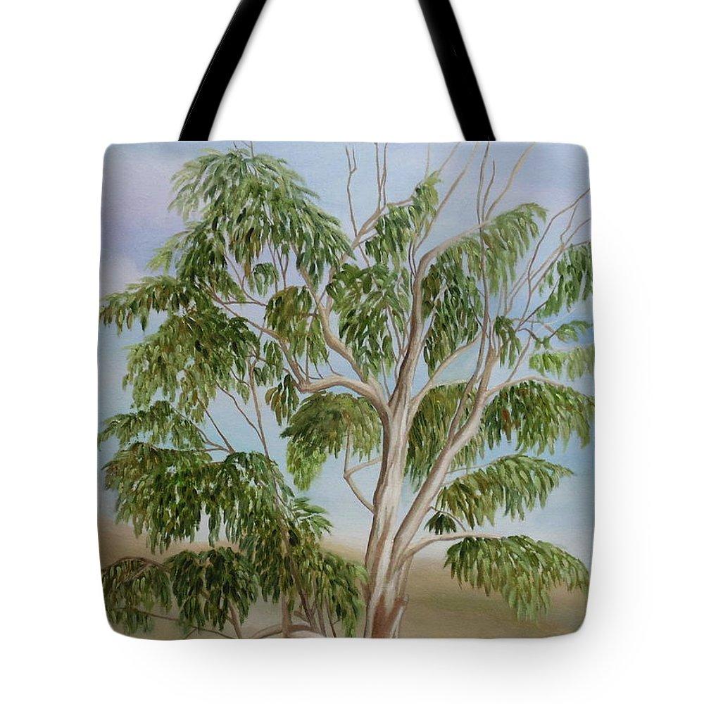 Eucalyptus Tote Bag featuring the painting Eucalyptus by Angeles M Pomata