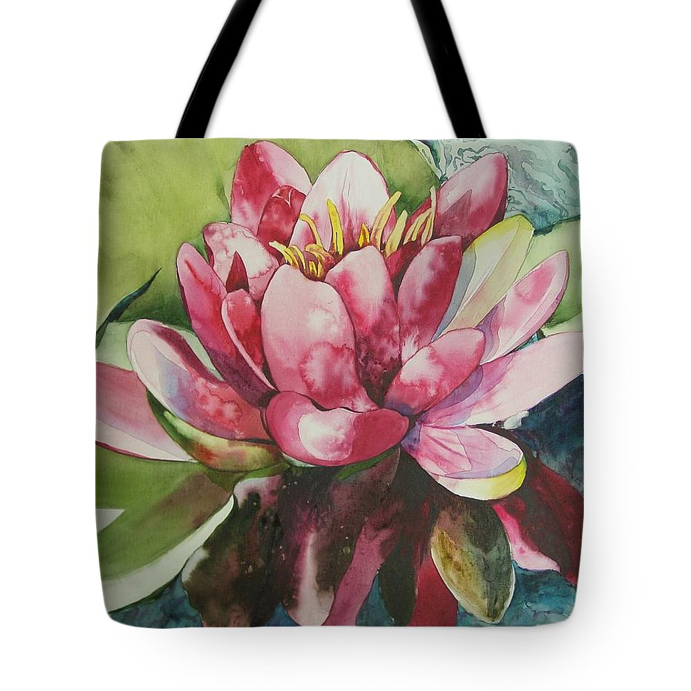Flower Tote Bag featuring the painting Eureka Springs Lily by Marlene Gremillion