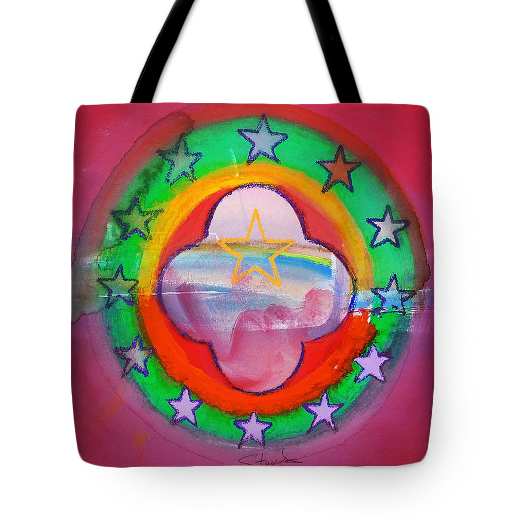 Symbol Tote Bag featuring the painting Euro Fishing Boat by Charles Stuart