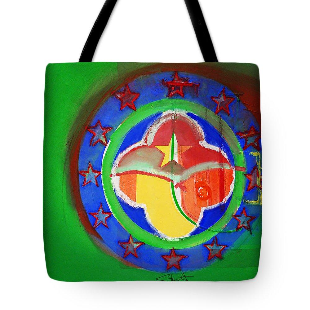 Symbol Tote Bag featuring the painting Euromarine by Charles Stuart