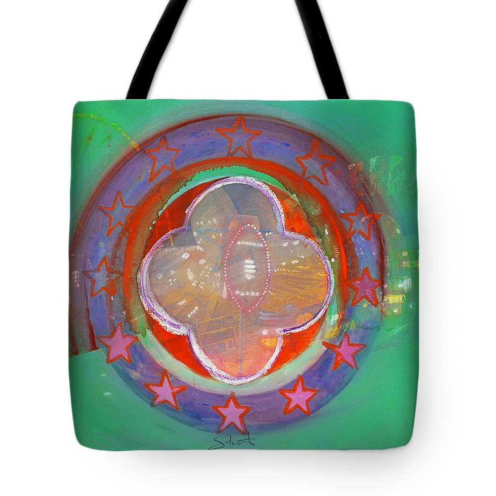 Symbol Tote Bag featuring the painting European Merry-go-round by Charles Stuart