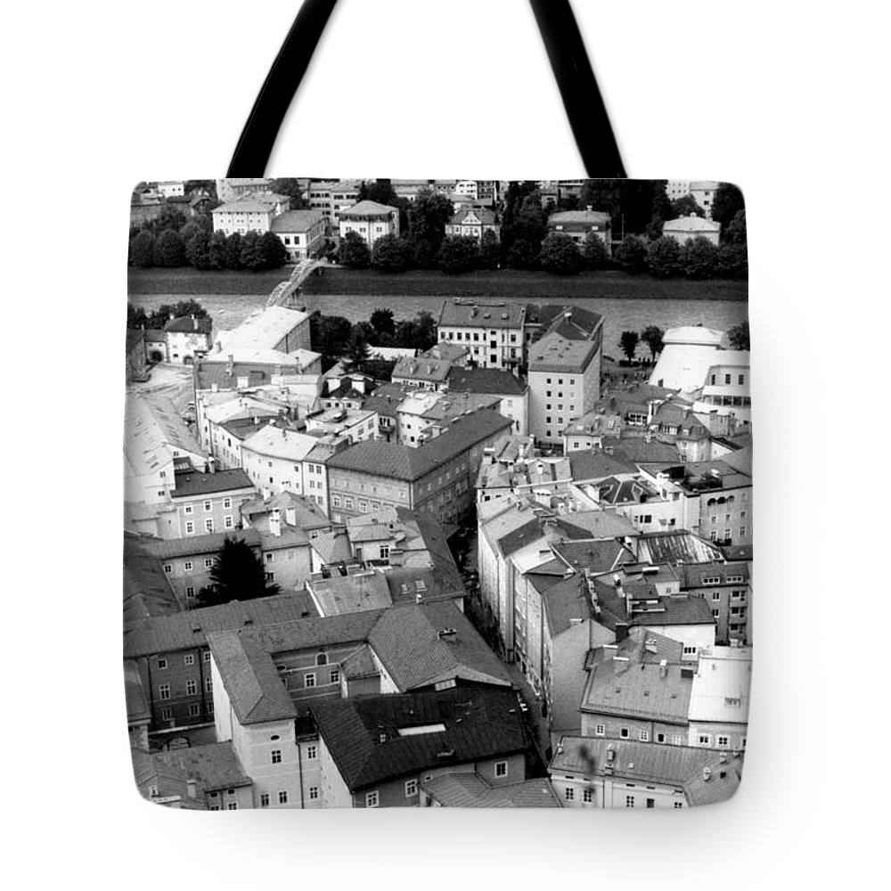 Rofftops Tote Bag featuring the photograph European Rooftops by Michelle Calkins