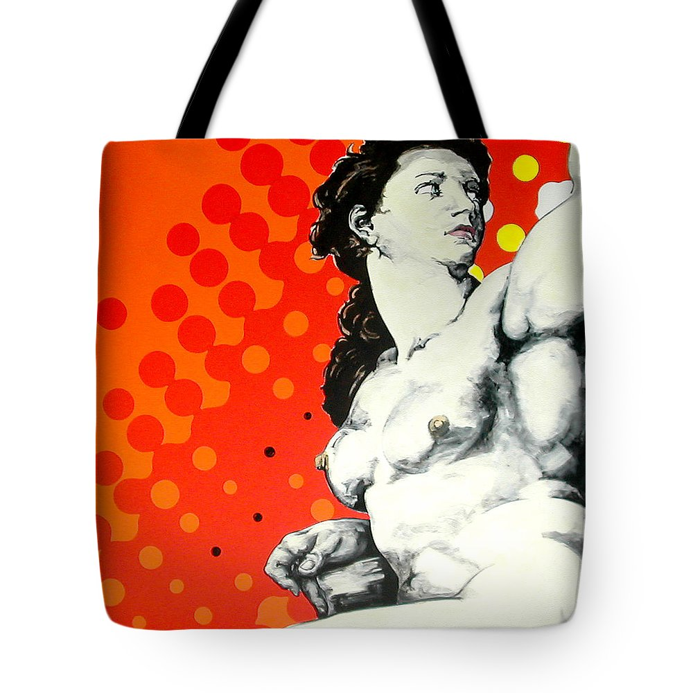 Pop Tote Bag featuring the painting Eva by Jean Pierre Rousselet