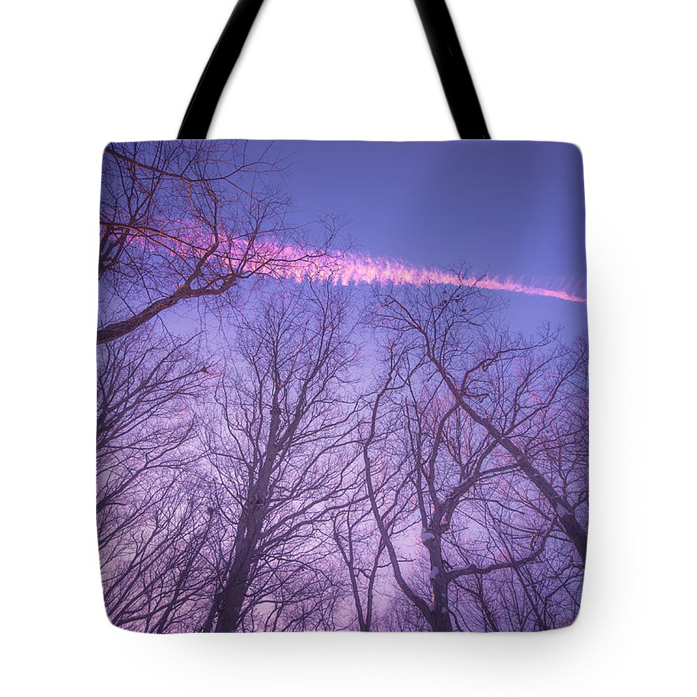 Atmospheric Tote Bag featuring the digital art Even The Dead Pray For Color by Will Jacoby Artwork