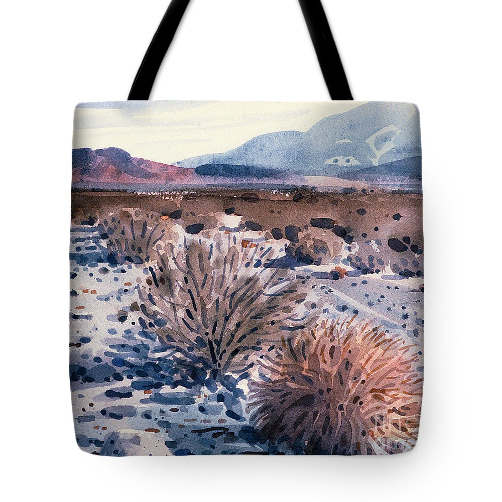 Sage Tote Bag featuring the painting Evening In Death Valley by Donald Maier