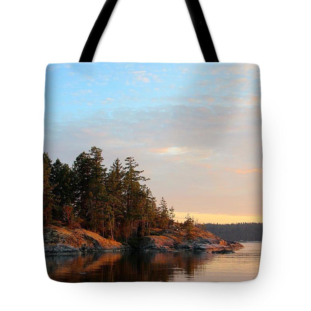 Landscape Tote Bag featuring the photograph Evening In Smuggler Cove by Anders Skogman