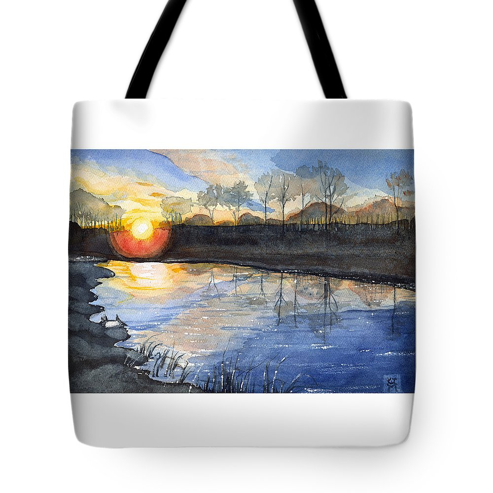Evening Tote Bag featuring the painting Evening by Katherine Miller
