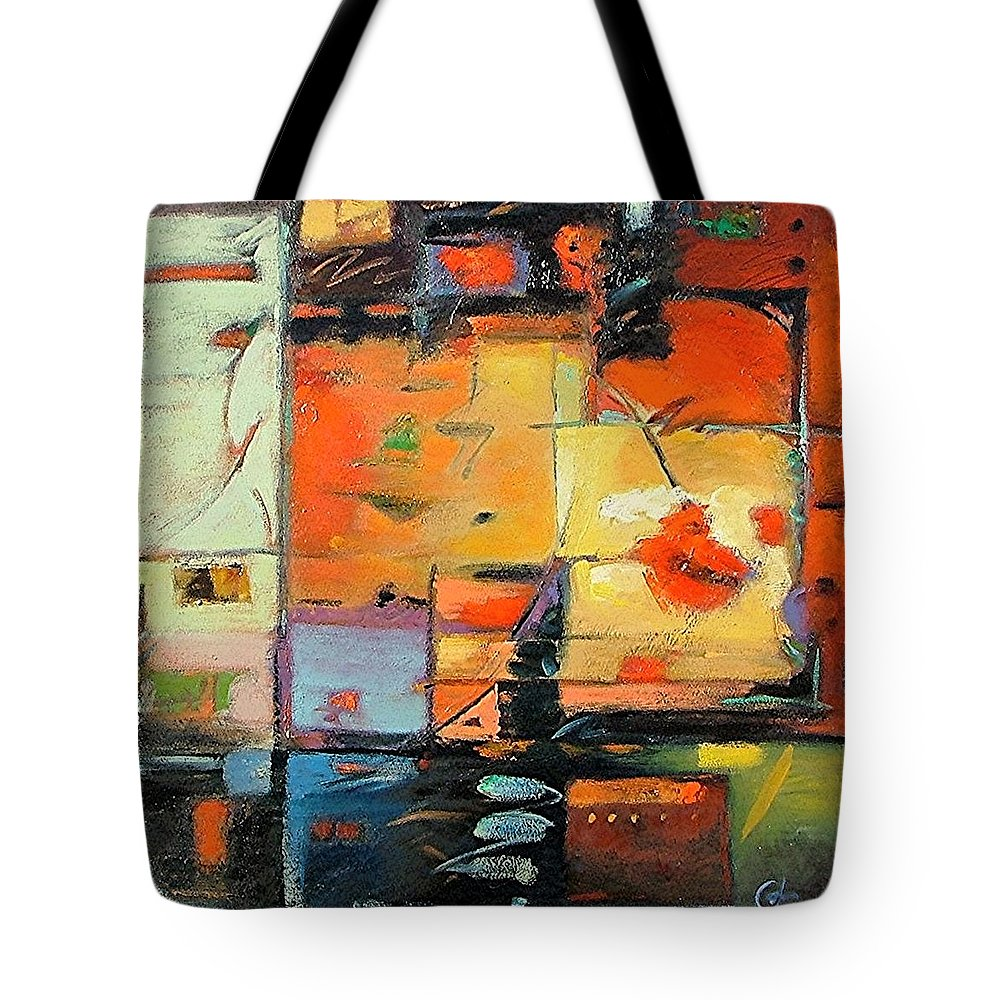 Abstract Painting Tote Bag featuring the painting Evening Light by Gary Coleman