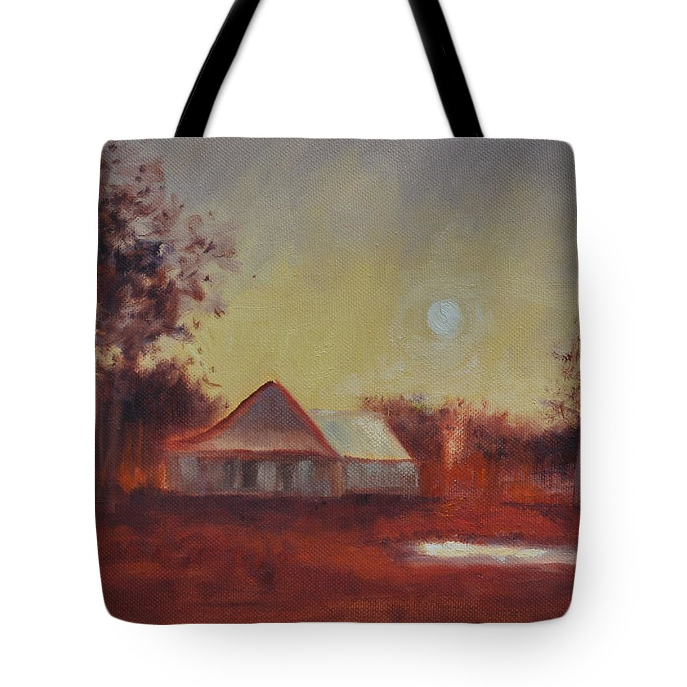 Sunsets Tote Bag featuring the painting Evening Light by Ginger Concepcion