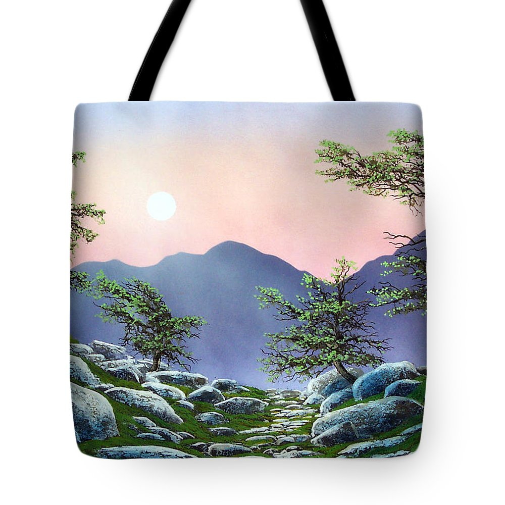 Evening Moonrise Tote Bag featuring the painting Evening Moonrise by Frank Wilson