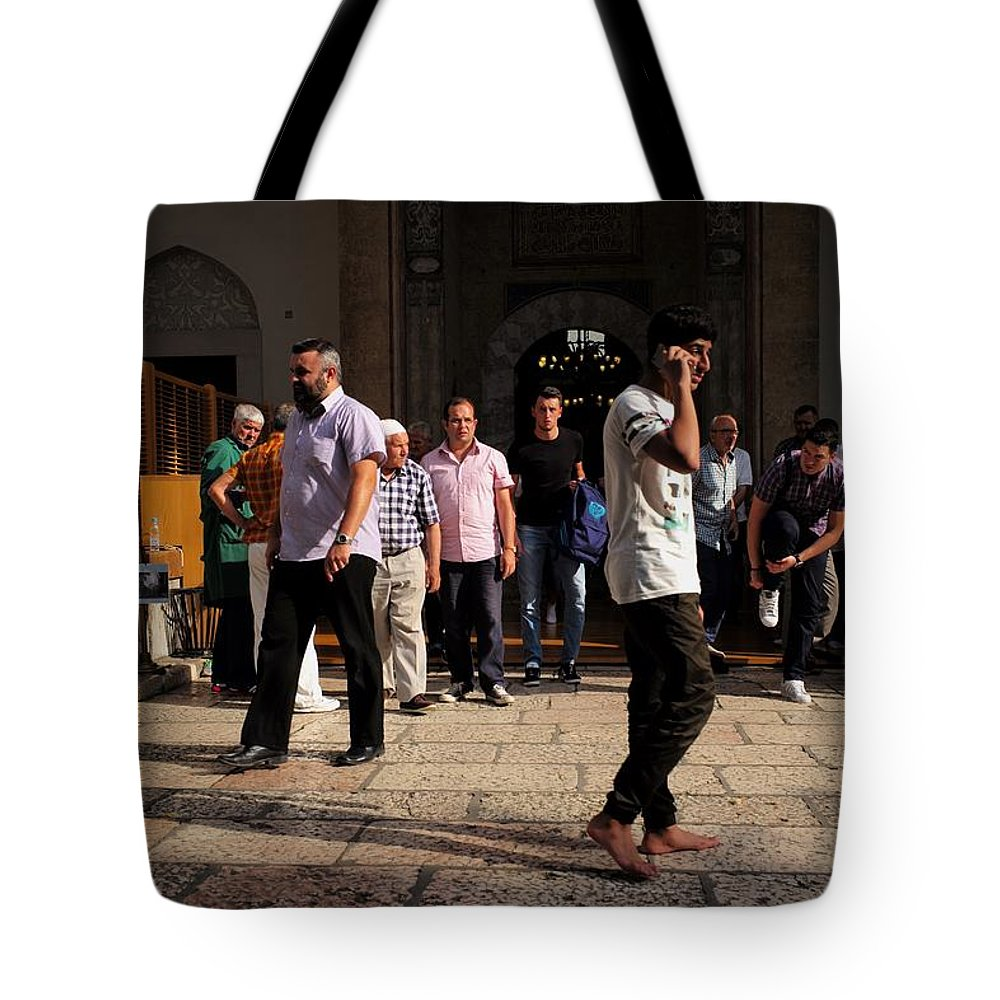 Sarajevo Tote Bag featuring the photograph Evening Prayer by Piotr Kuzniar