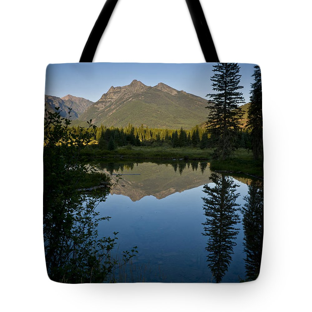 Reflections Tote Bag featuring the photograph Evening Reflection by Albert Seger