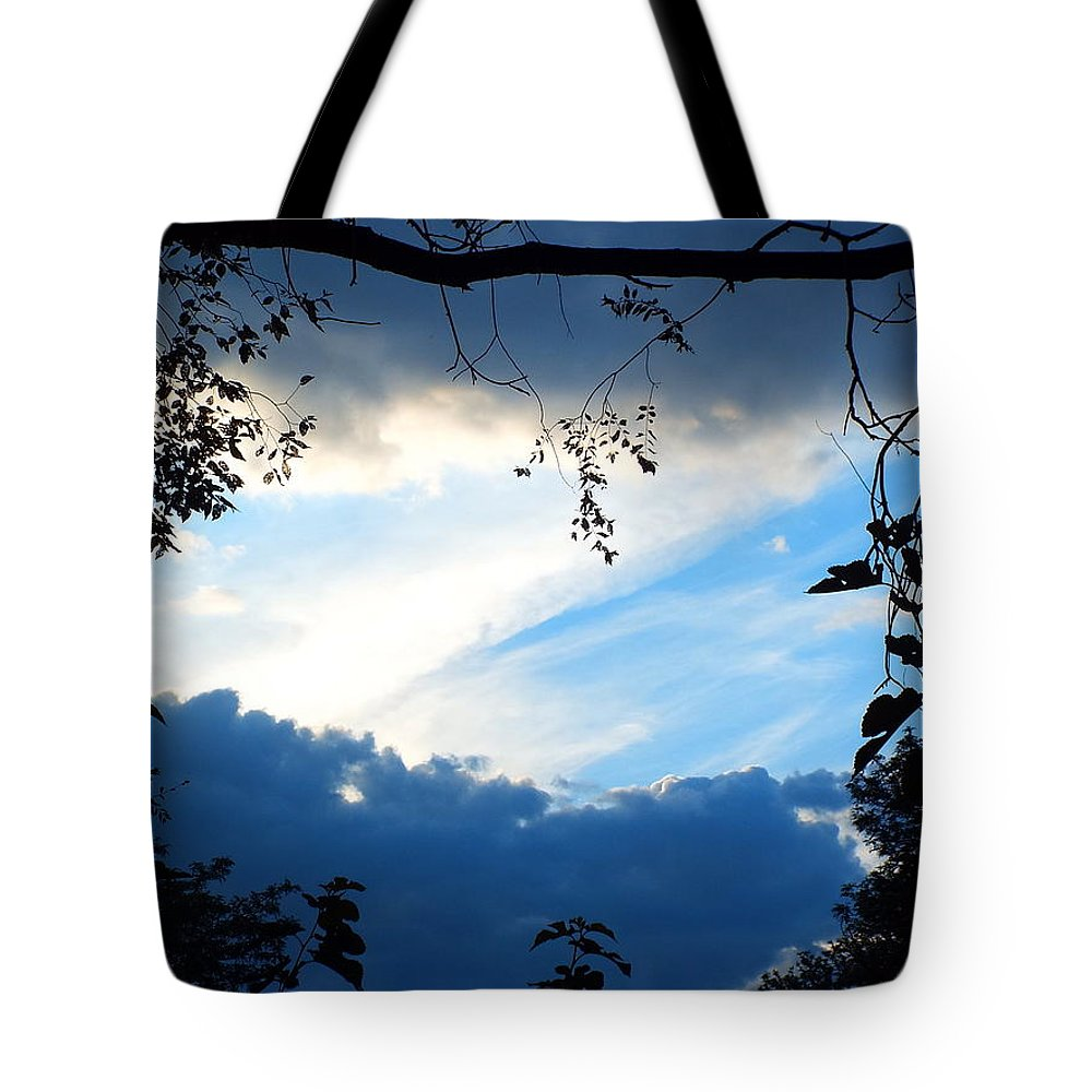 Sky Tote Bag featuring the photograph Evening Sky by Lee Hudson