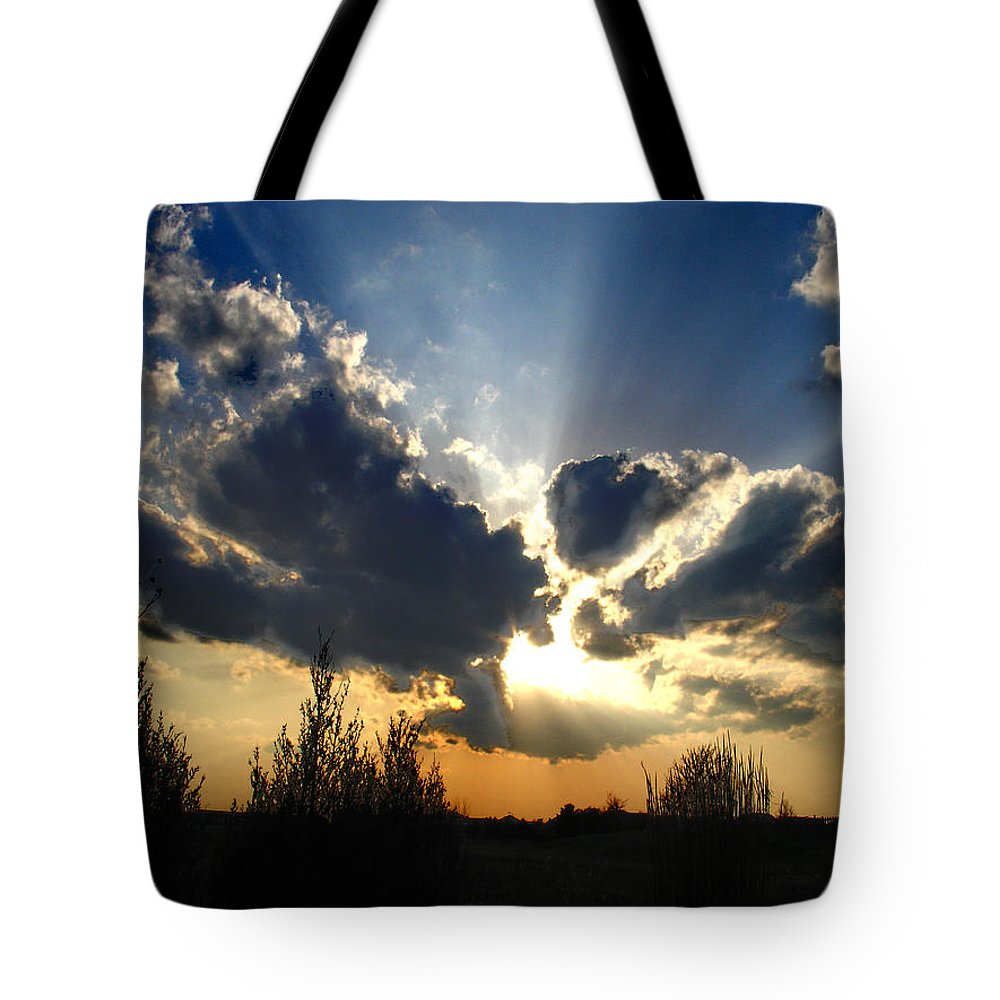 Landscape Tote Bag featuring the photograph Evening Sky by Steve Karol