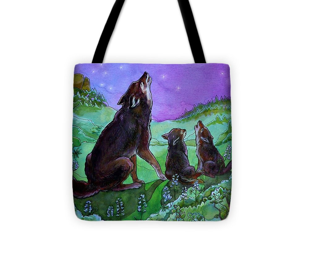 Coyote Tote Bag featuring the painting Make A Joyful Noise by Jill Iversen