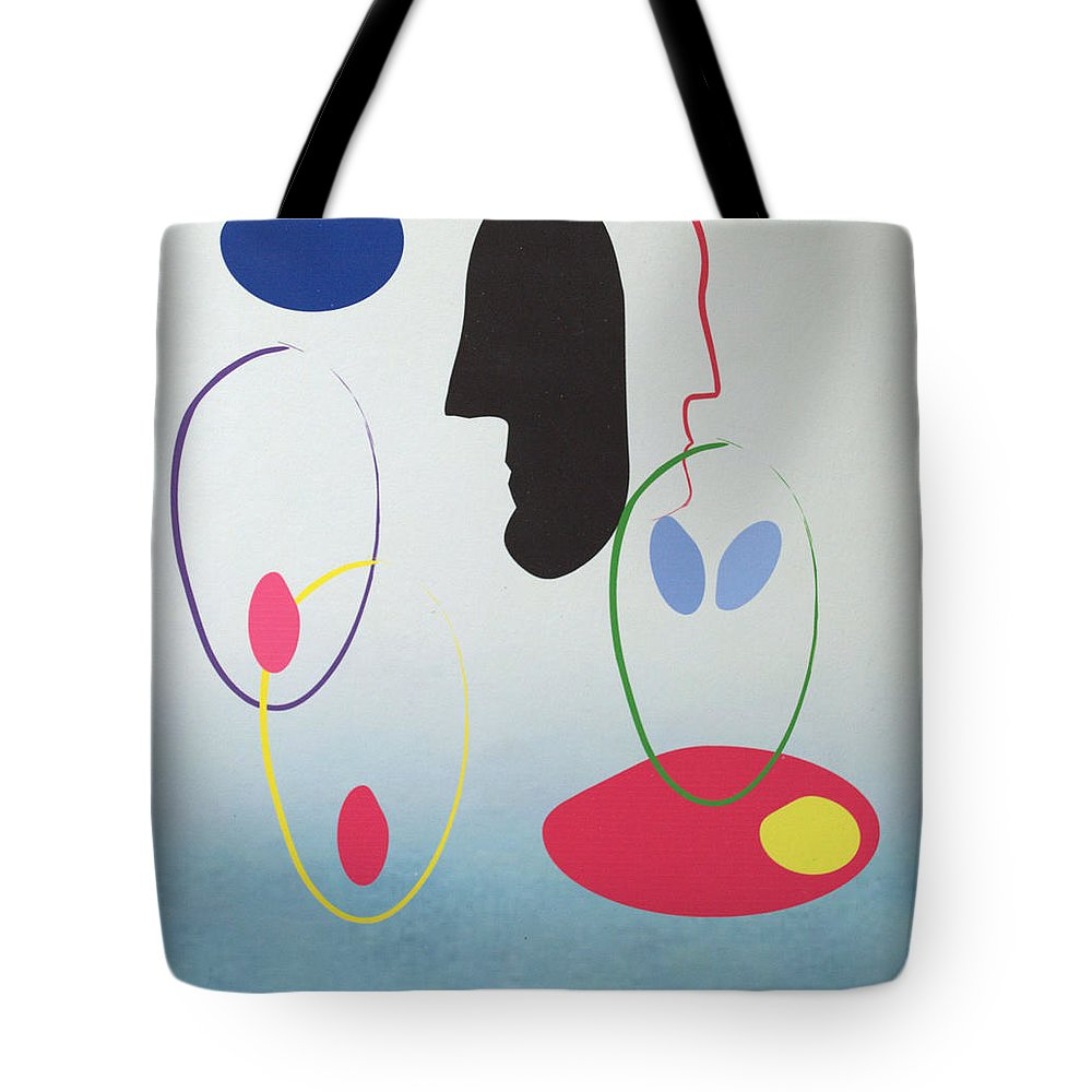 Digital Artwork Tote Bag featuring the digital art Everyones Talking And No One's Listening by J R Seymour