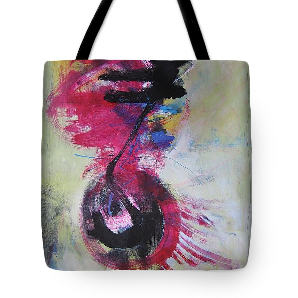 Abstract Paintings Red Paintings Tote Bag featuring the painting Everything A Mistake-abstract Red Painting by Seon-Jeong Kim
