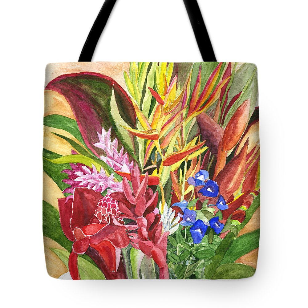 Flowers Tote Bag featuring the painting Everywhere There Were Flowers by Eric Samuelson