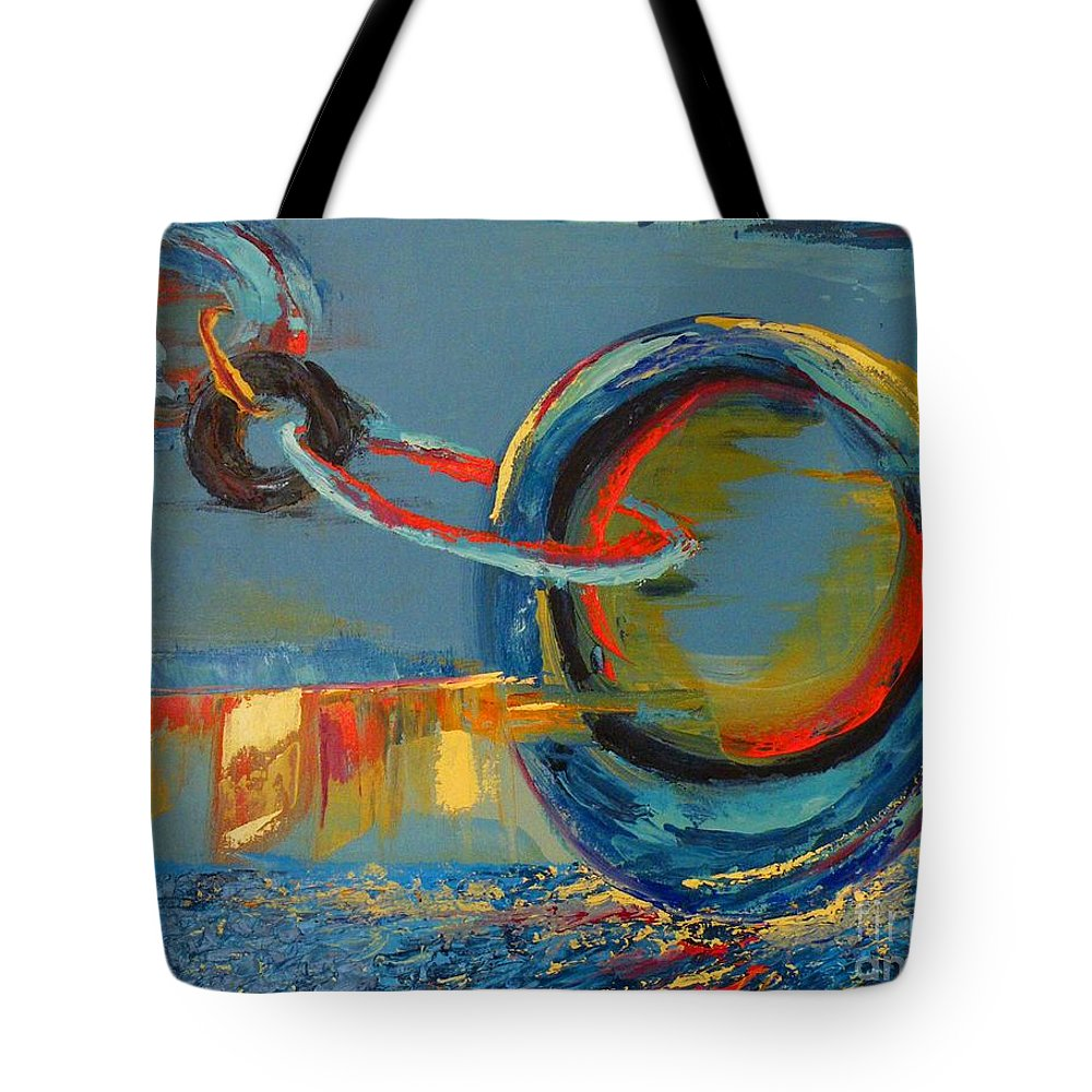 Abstract Painting Tote Bag featuring the painting Evolving Sense by Patricia Awapara