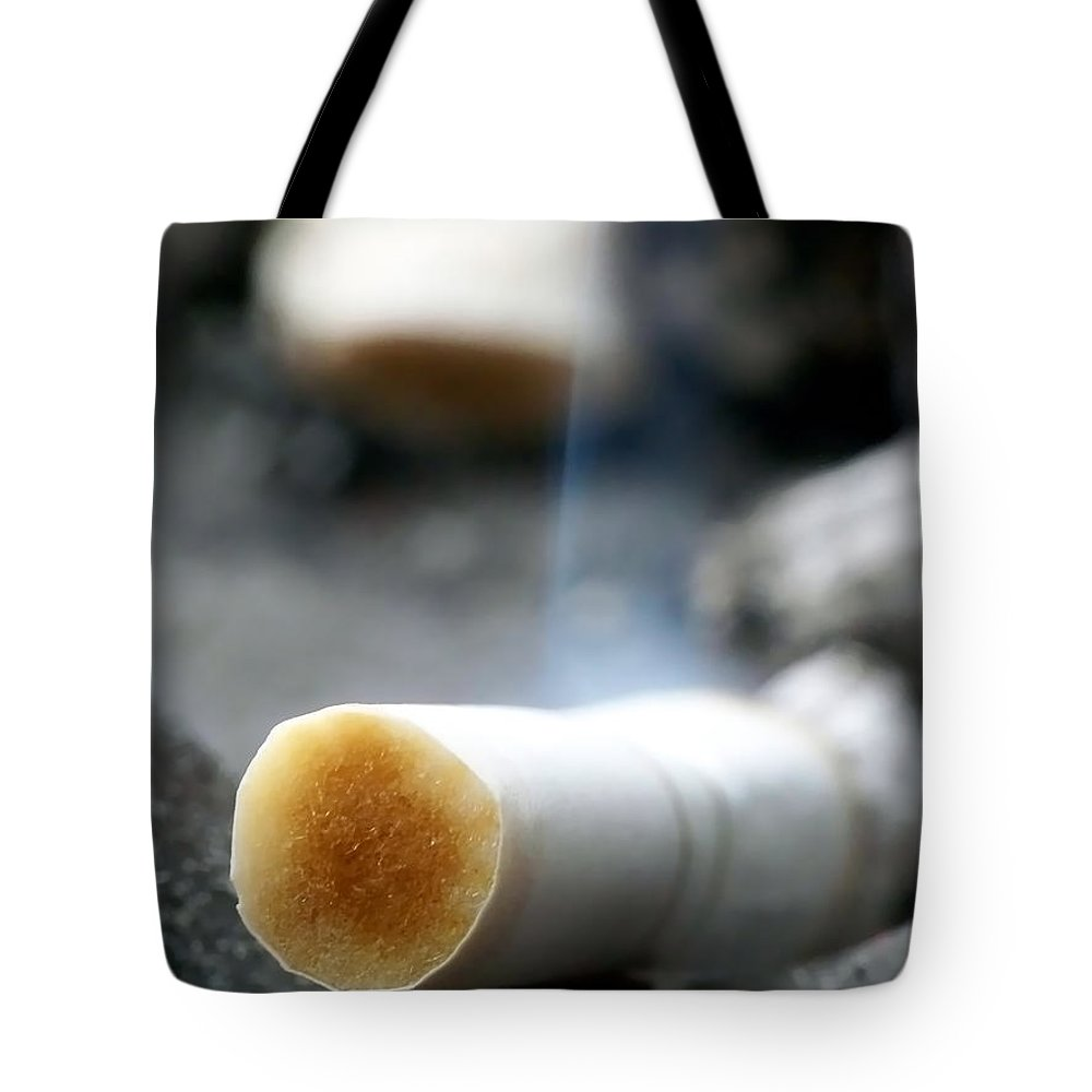 Abstract Tote Bag featuring the photograph Excess by Lauren Radke