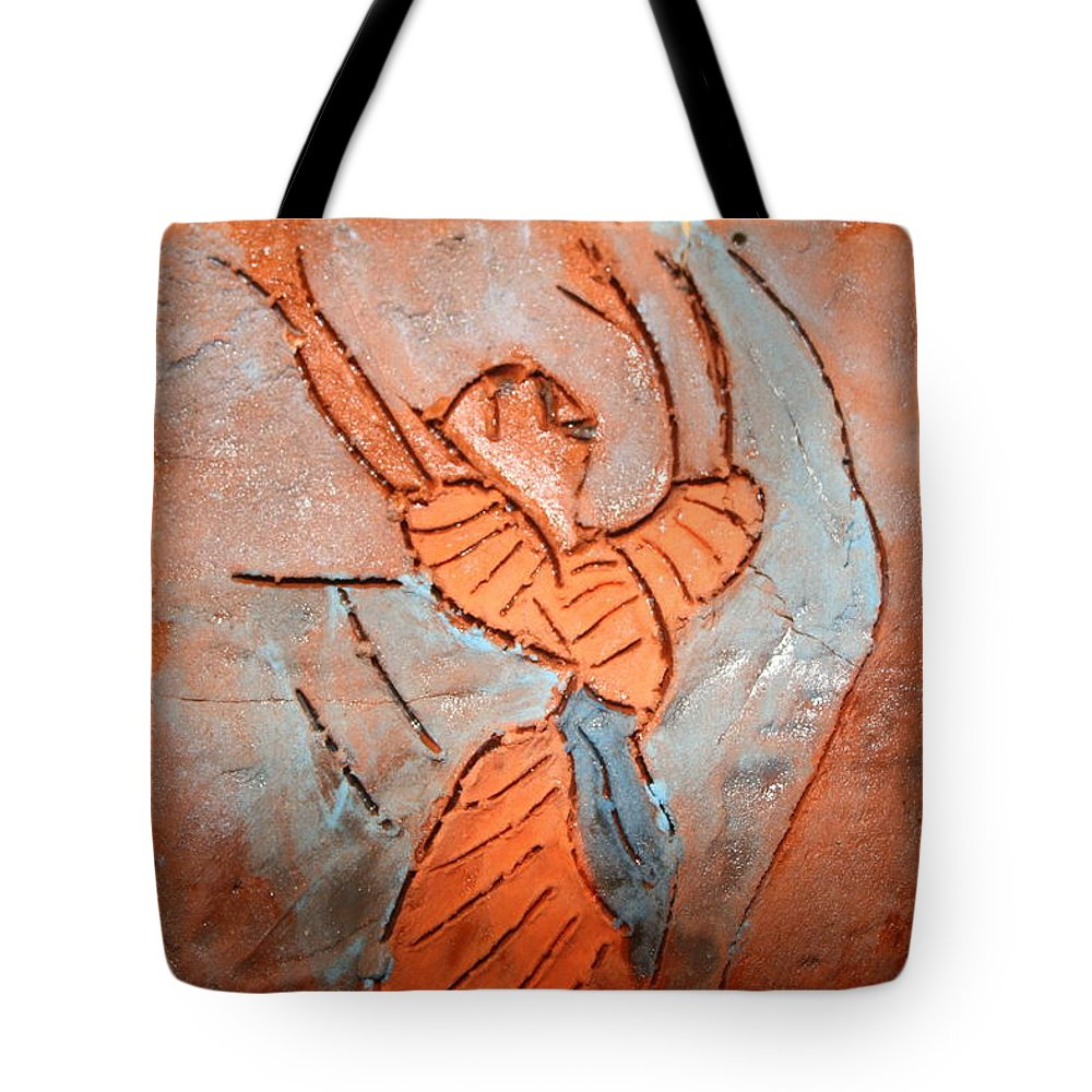 Jesus Tote Bag featuring the ceramic art Exclaim - Tile by Gloria Ssali