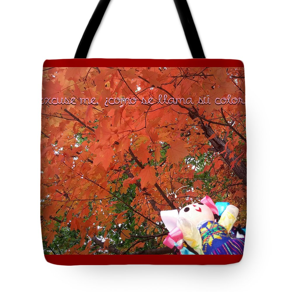 La Mexicanita On Usa Tote Bag featuring the photograph Excuse Me Color by Higo Gabarron