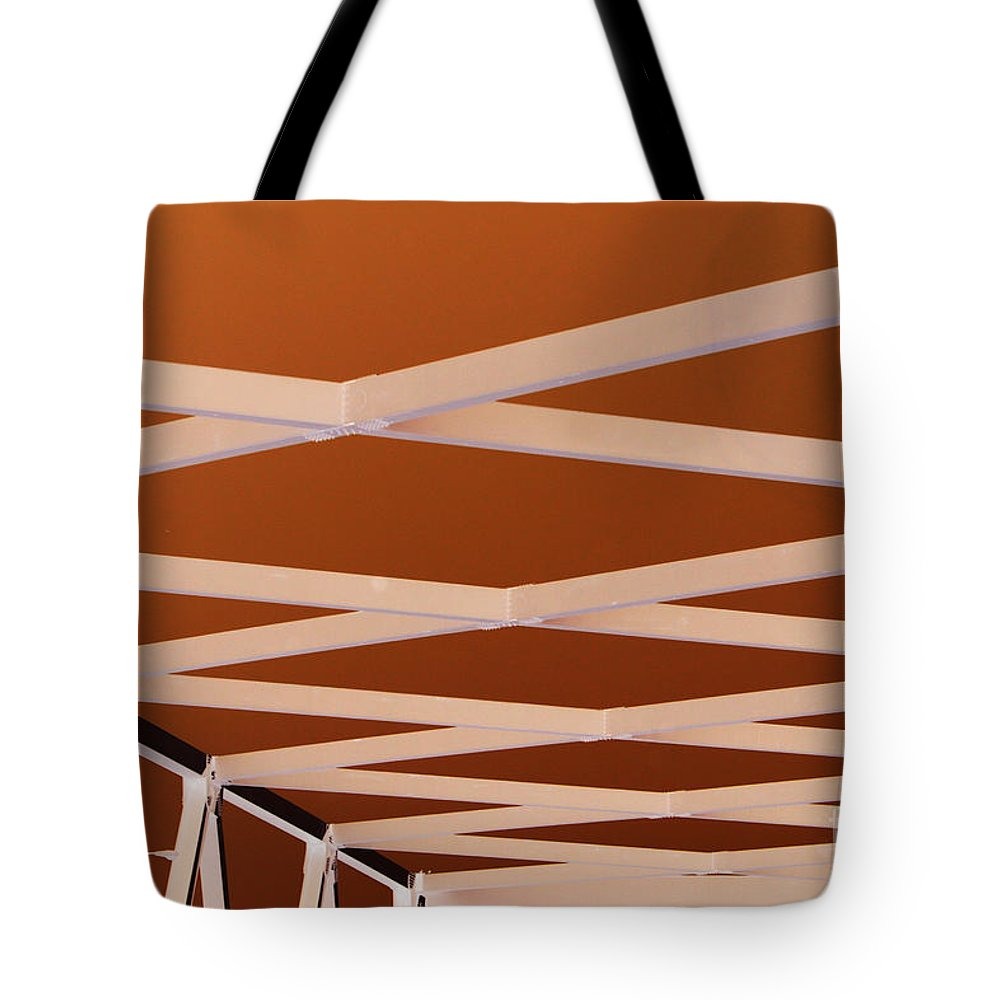 Bridge Tote Bag featuring the photograph Exes- Red by Jamie Lynn