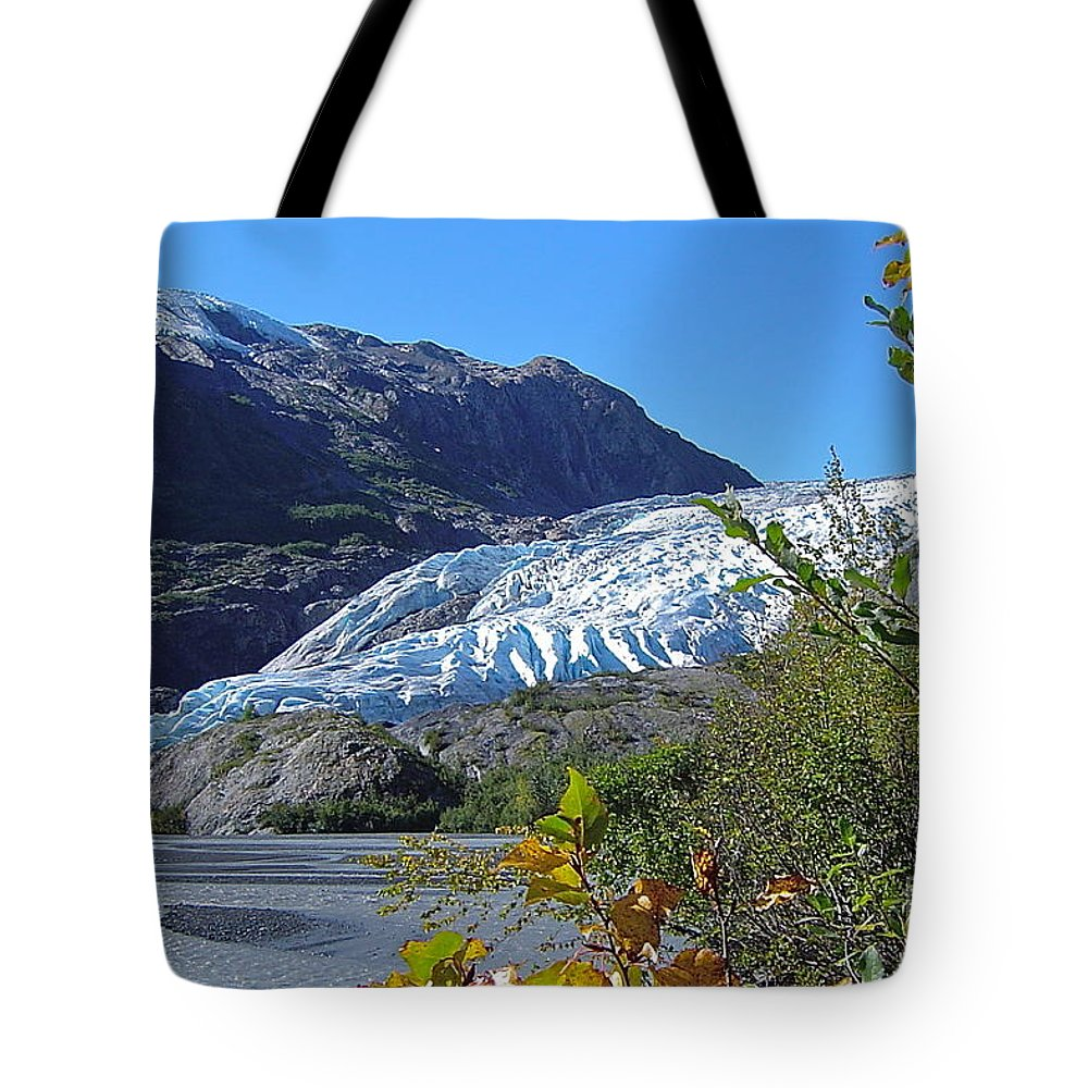 Glacier Tote Bag featuring the photograph Exit by Rick Monyahan