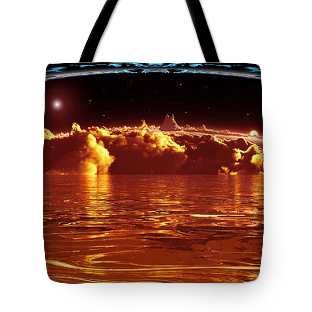 Cloud Tote Bag featuring the digital art Exogatus by Max Steinwald