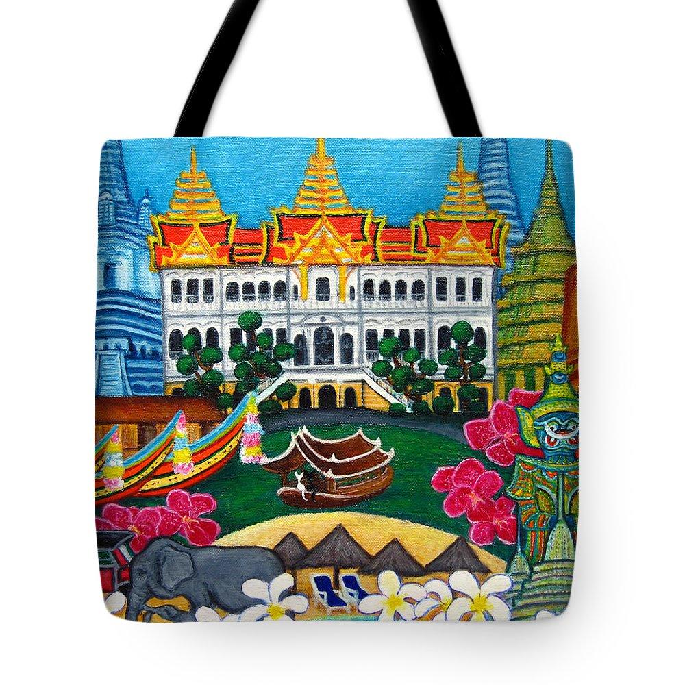 Bangkok Tote Bag featuring the painting Exotic Bangkok by Lisa Lorenz