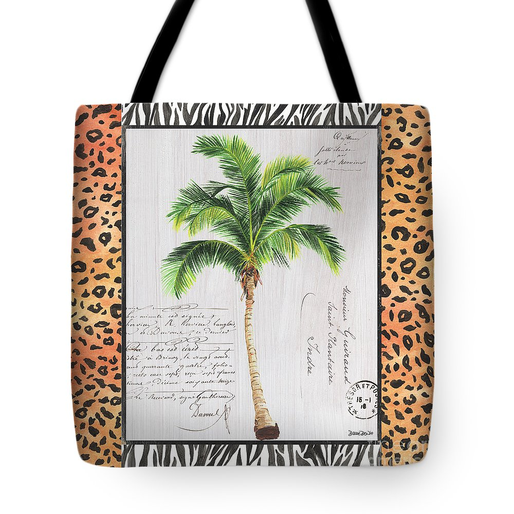 b0df656c54 Tropical Tote Bag featuring the painting Exotic Palms 1 by Debbie DeWitt