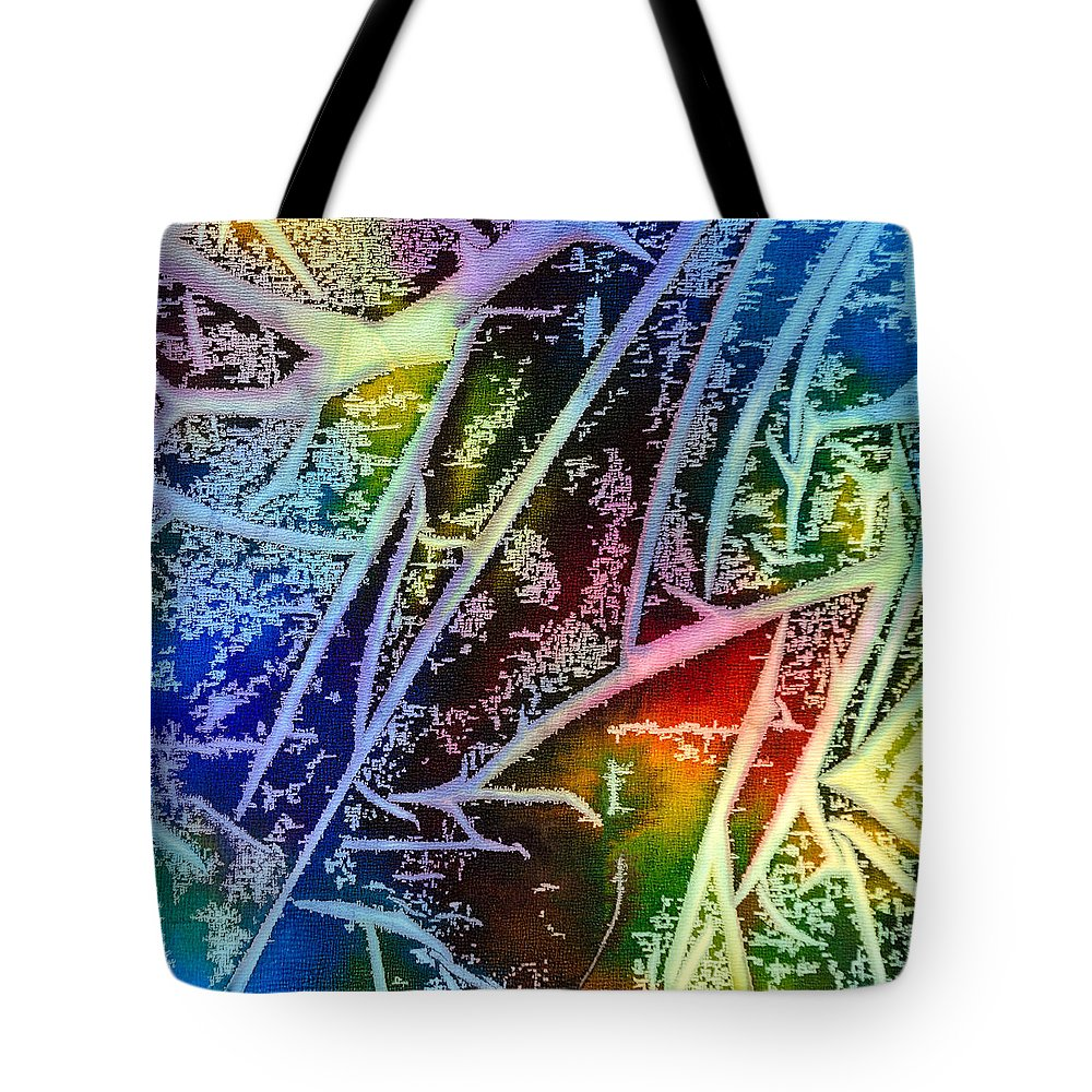 Abstract Tote Bag featuring the painting Expanding Awareness - A - by Sandy Sandy