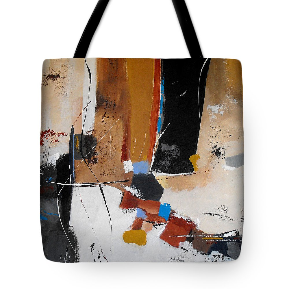 Abstract Tote Bag featuring the painting Expectations by Ruth Palmer