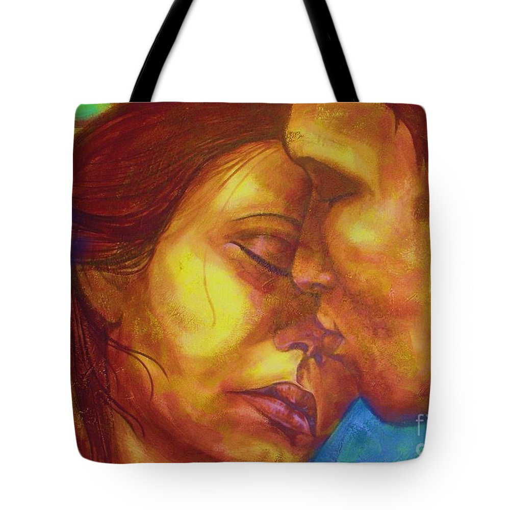 Kiss Tote Bag featuring the photograph Expected Kisses by Vesna Antic