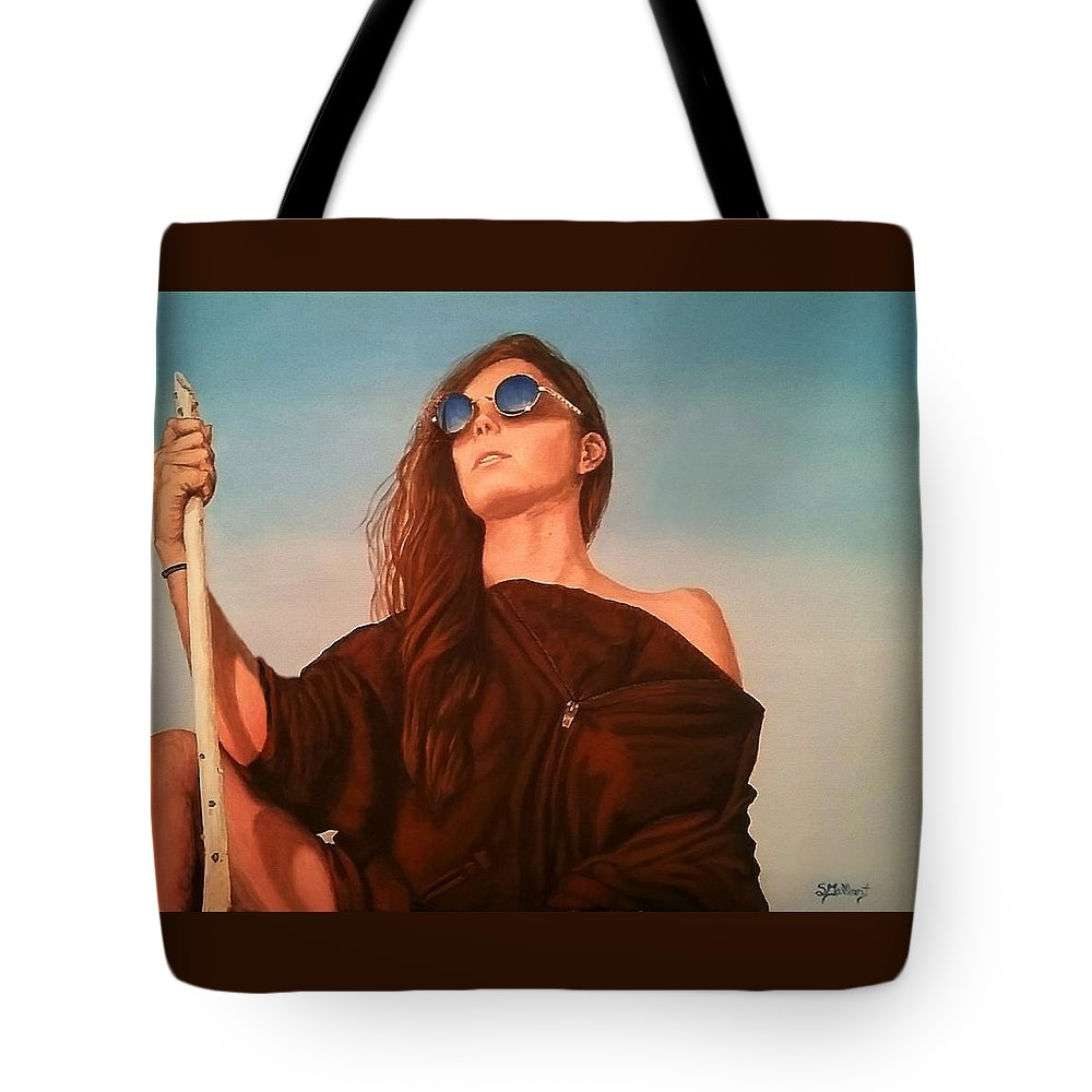 Painting Tote Bag featuring the painting Expedition by Sheryl Gallant