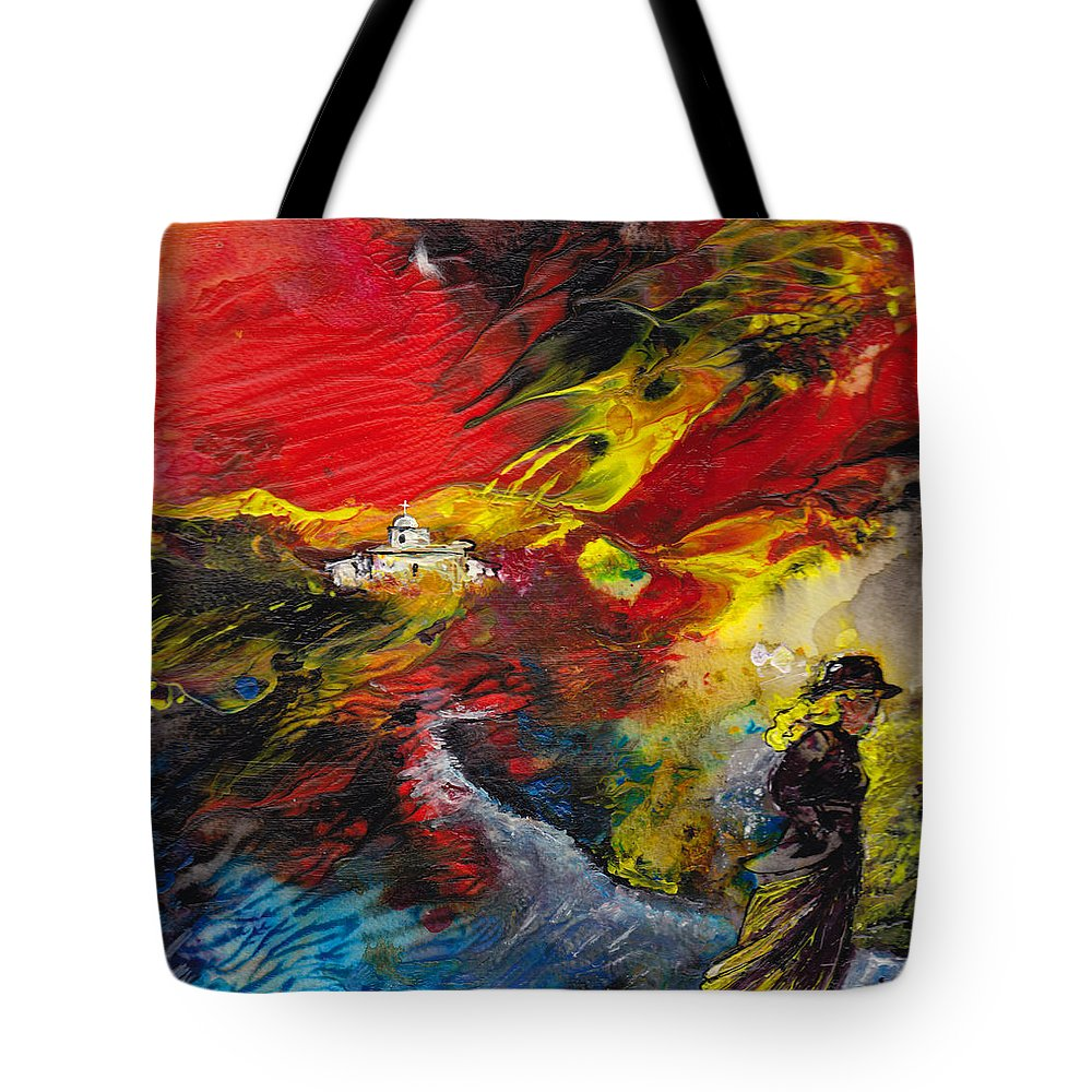 Impressionism Tote Bag featuring the painting Expelled From The Land by Miki De Goodaboom