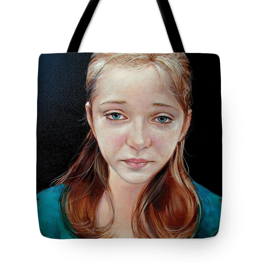 Sadness Tote Bag featuring the painting Experience Of Loss 2004 by Jerrold Carton