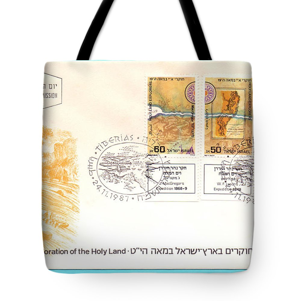 First Day Cover Tote Bag featuring the photograph explorers First day cover by Ilan Rosen