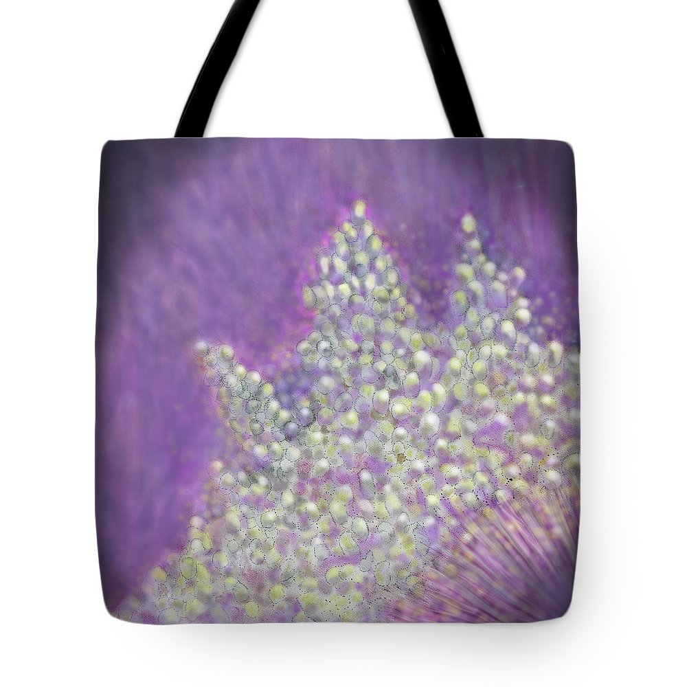 Abstract Tote Bag featuring the digital art Expodential Growth by Ian MacDonald