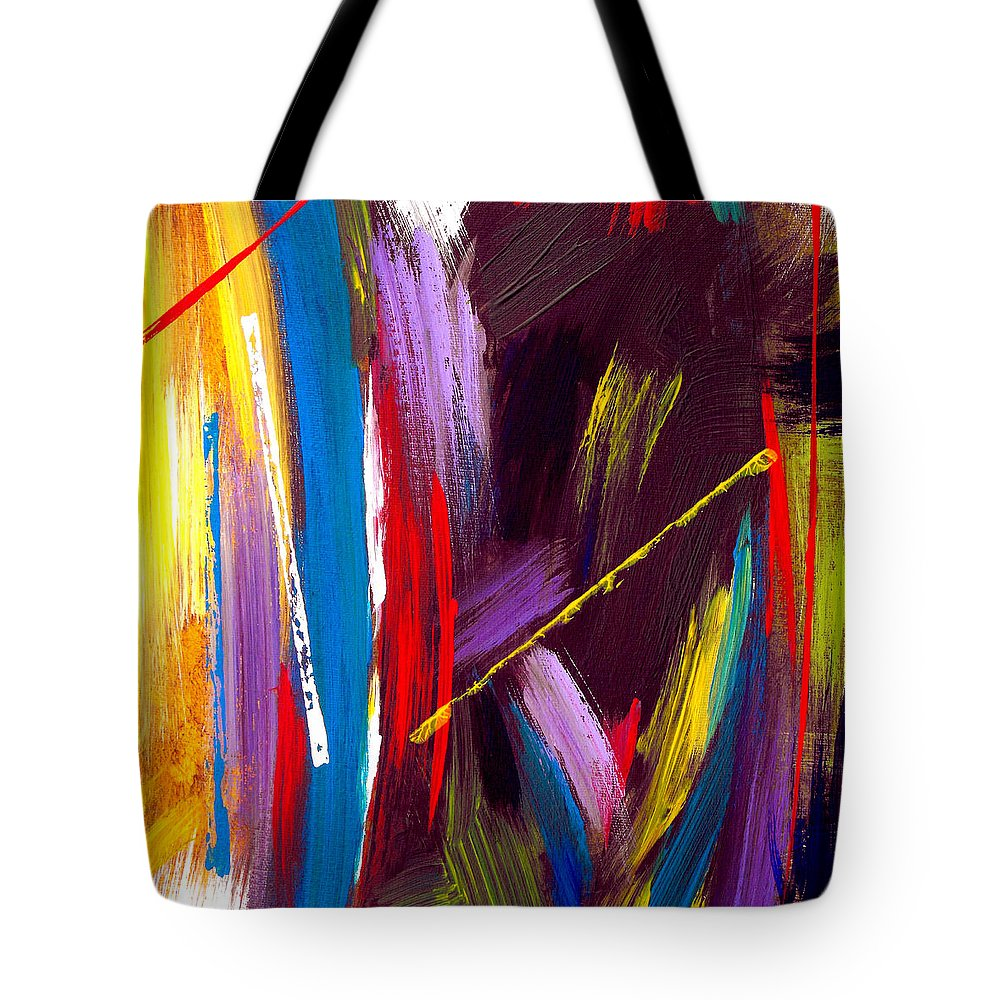 Abstract Tote Bag featuring the painting Express Yourself by Ruth Palmer